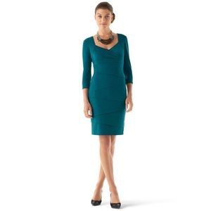 New WHBM Instantly Slimming Dress jade 2 xs